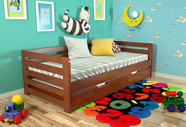 Дитяче ліжко Немо з висувною шуфляжою яблуня локарно, ARBOR DREV