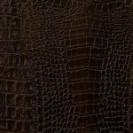 Вставка шкір. крокодил (коричн.)