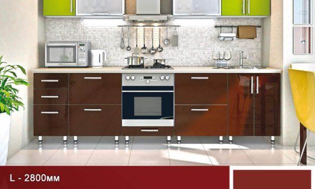 Кухня HIGH GLOSS пряма, модельний ряд