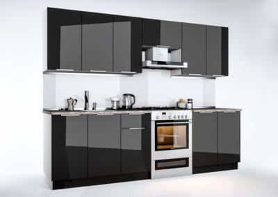 Кухня Orlando (Глянець чорний)