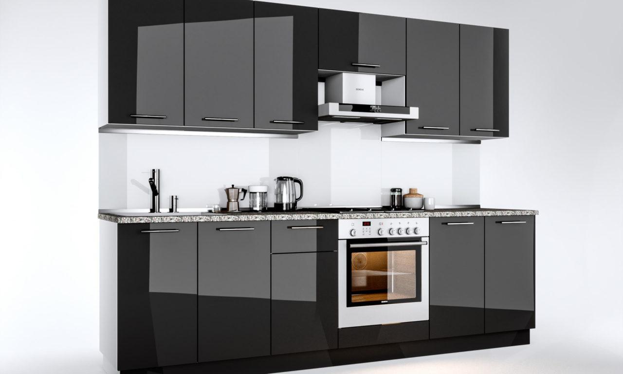 Кухня Bianca (Глянець чорний)