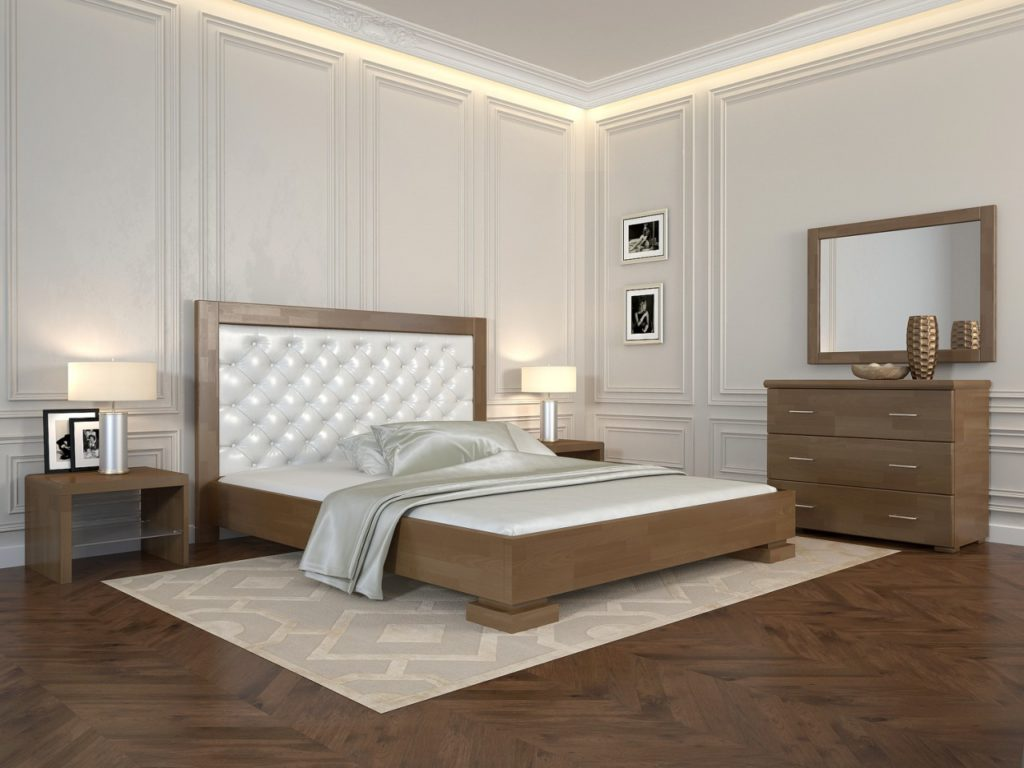 ARBORDREV ліжко Подіум, горіх, ромб