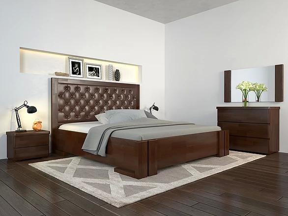 ARBORDREW ліжко АМБЕР горіх-темний, ромб