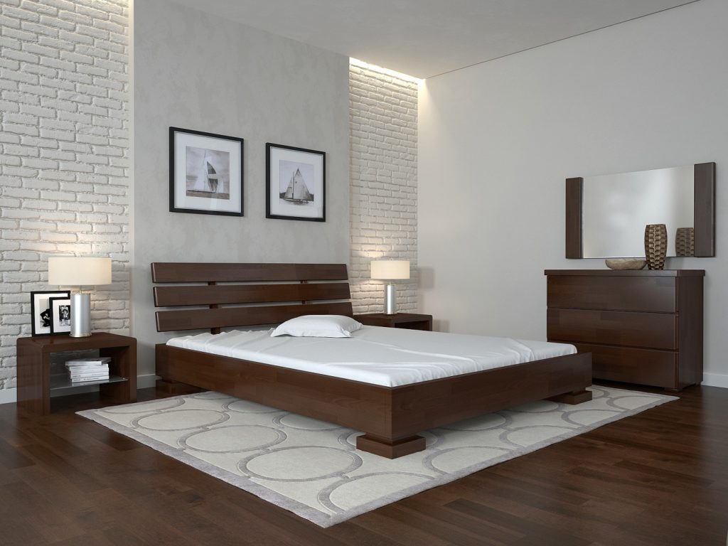 ArborDrev ліжко Прем'єр, колір горіх темний