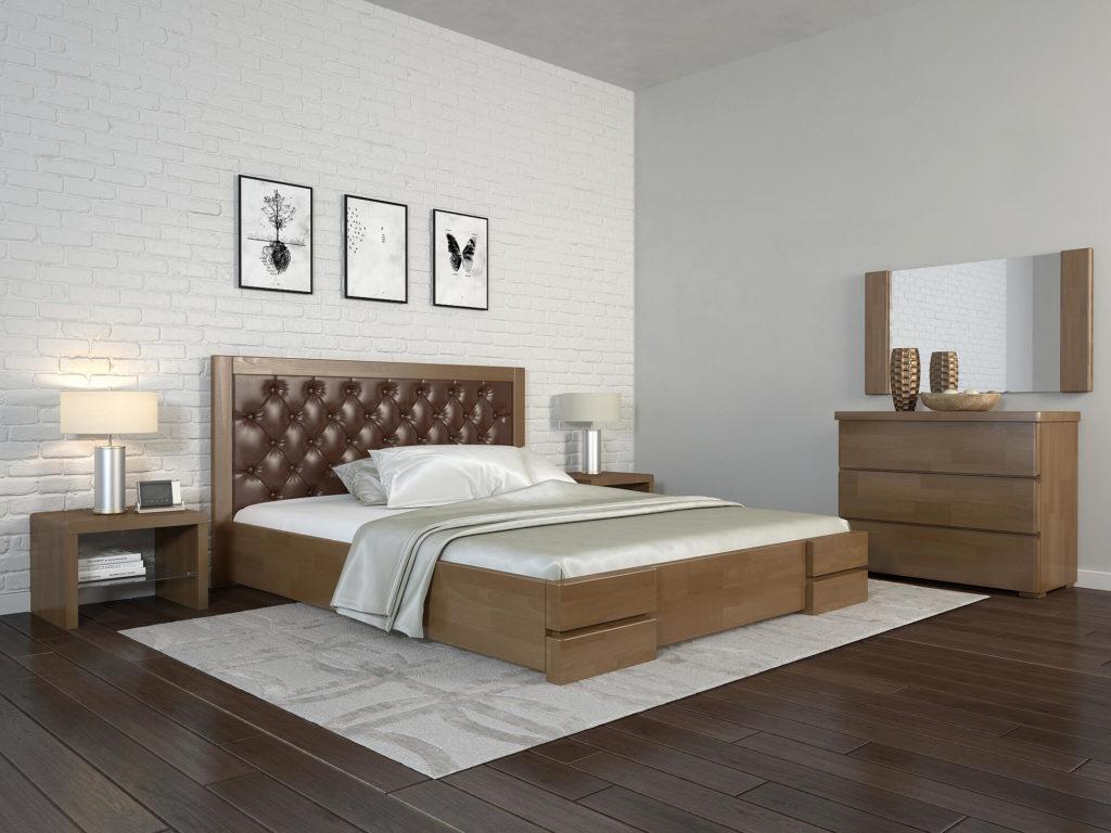 ArborDrev ліжко Регіна Люкс горіх