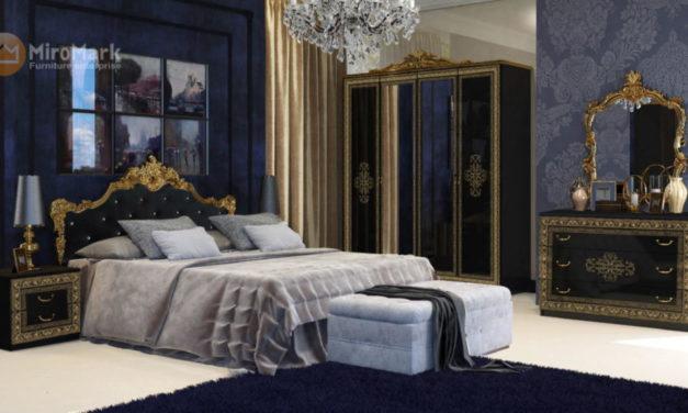 Класична спальня Jennifer (Глянець чорний)